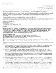 resume objective examples business analyst job and resume template