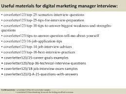 Sample Resume For Digital Marketing Manager by Top 5 Digital Marketing Manager Cover Letter Samples