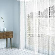 White Sheer Curtains Timeless White Sheer Curtain With Delicate Floral Patterns White