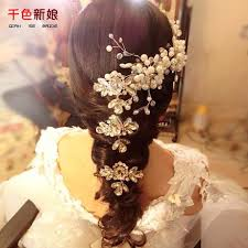 2018 mirror flower korean jewelry bridal hair comb