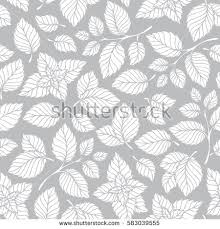 mint wrapping paper mint leaf pattern peppermint leaves sketch stock vector 583039555
