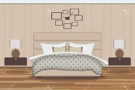 bed and side table set bedroom illustration elevation room with bed side table l