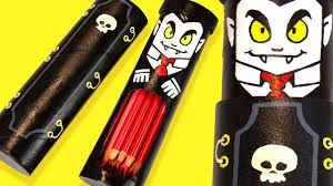 diy vampire coffin pencil case halloween ideas for kids on box