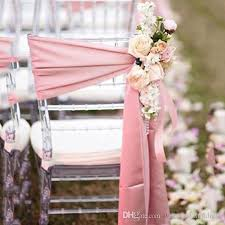 pink chair sashes 2018 simple chair sash for weddings satin without flowers