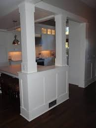 kitchen half wall half wall paneling open kitchen style bedroom