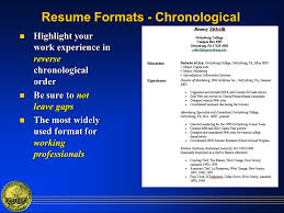 Resume Chronological Order Writing An Effective Resume What Is A Resume A Marketing Tool A
