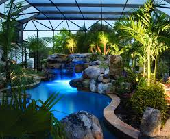 natural lagoon pool with spa stream u0026 outdoor kitchen lucas lagoons