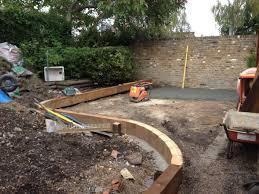 Curved Garden Wall by Blackheath Gardener London Landscape Design Projects