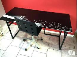 bureau ikea plateau verre dessus de bureau en verre le plateau de bureau en verre pour votre