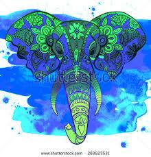 vector indian decorative elephant on henna stock vector 223692109