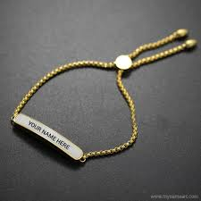 bracelet with name girl tag name bracelets wishes greeting card