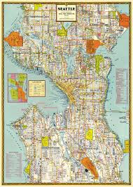 seattle map cavallini and co decorative wrap seattle map