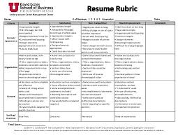 Accomplishment Statements For Resume Resume Rubric The Best Letter Sample