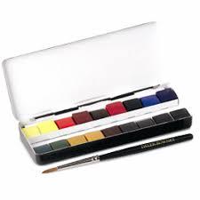 set of 18 daler rowney watercolour quarter pans greatart no 1