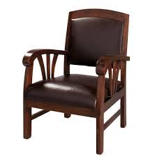 fauteuil de la maison fauteuil en cuir marron singapour maisons du monde