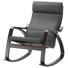 Indoor Rocking Chair Cushions by Poäng Rocking Chair Black Brown Finnsta Grey Ikea
