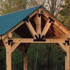 a pavilion built using a truss base fan truss accents laredo