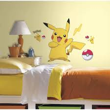 roommates 5 in x 19 in pokemon pikachu peel and stick wall decal pokemon pikachu peel and stick wall decal