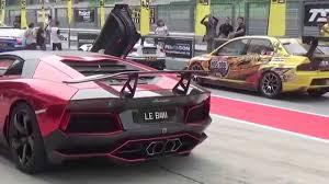 Lamborghini Aventador Dmc - lamborghini aventador dmc sv starting up and revving in sepang