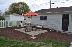 new ideas making a patio with pavers with mulch sod cutter patio