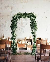 wedding arch garland white gold winter wedding inspiration arbors garlands and