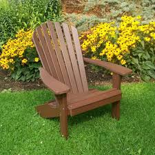 Brown Adirondack Chairs Fanback Chair Amish Woodwork
