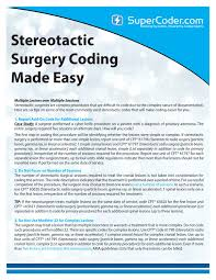 stereotactic surgery coding made easy by supercoder issuu