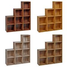 1 2 3 4 tier wooden bookcase shelving display storage wood bookcase large size