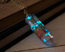 glow in the necklaces glowing necklace etsy
