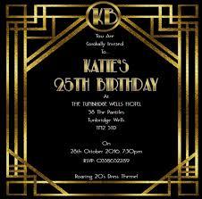 roaring 20s party invitations great gatsby birthday invitation