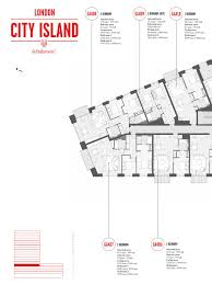 london city island faraday building plan book by ballymore group