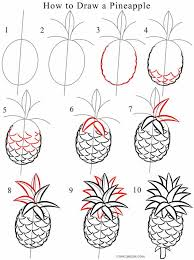 coloring appealing drawing pineapple tattoo coloring