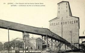 bureau ville la grand l édifice de la douane et l élévateur du grand nord vers 1905