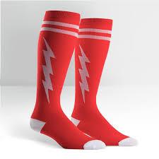 Super Socks Unisex Stretch It Knee High Super Hero Socks Red U0026 White