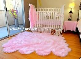 Nursery Area Rugs 5x6 Baby Pink Sheepskin Pelt Nursery Area Rug Baby Girl Home Decor
