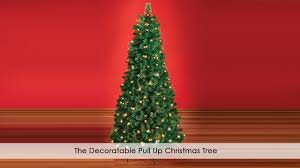 Easy Assemble Christmas Trees The Decoratable Pull Up Christmas Tree Youtube