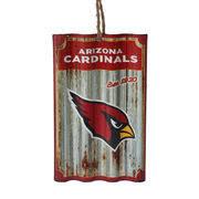 arizona cardinals metal corrugate ornament