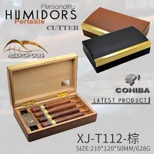 cigar gift set cohiba stylish leather cedar cigar humidor box travel cigar box