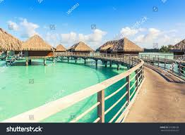 traditional over water villas on tropical stock photo 519280168