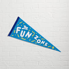 Bedroom Wall Banners Fun Zone Team Spirit Pennant The Land Of Nod
