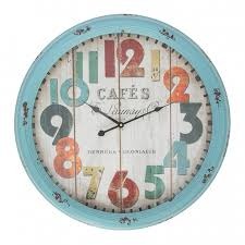 cool wall clock gorgeous buy cafe blue metal large wall clock online purely wall