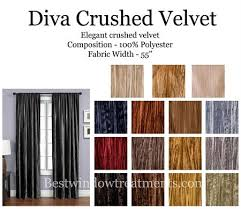 Crushed Velvet Fabric For Curtains Crush Curtain Panel Available In 15 Colors