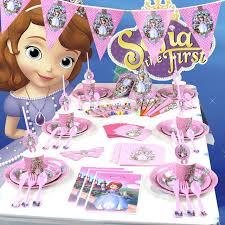 sofia the party supplies 136pcs set theme party supplies princess sofia birthday theme