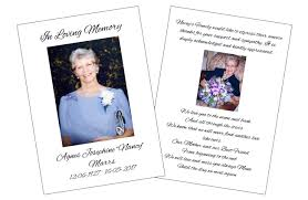 Funeral Booklets Booklets And Flyers Tj Picture Framing