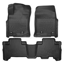lexus floor mats husky 99571 weatherbeater 1st u0026 2nd row black floor liner set