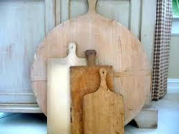 vintage bread board round cutting board 1940s dough board rustic