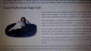 giant fluffy bean bag biggest one in uk revealed youtube