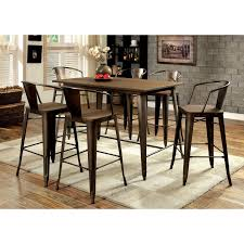 hillsdale cameron 5 piece counter height rectangle wood dining