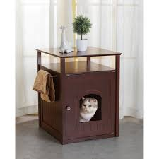ecoflex jumbo litter loo hidden kitty litter box end table merry products comfort room espresso finish hidden litter box cat