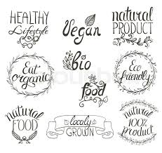 organic vegan food written sign background with